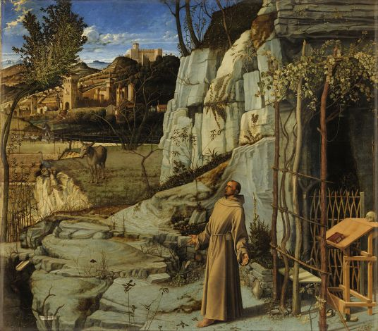 Saint Francis in the Desert Giovanni Bellini, c. 1480.jpg